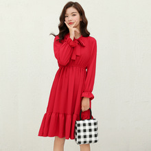 New Chiffon Long Sleeve Dresses for Women in 2019 Fashion A