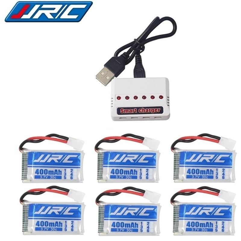 Оригинальный перезаряжаемый аккумулятор 3,7 в 400 мАч 30C для JJRC H31 RC, запасные части 3,7 в, литий-полимерный аккумулятор и зарядное устройство для...