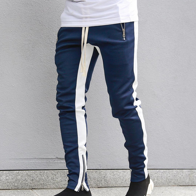 Multi-pocket Jogger Trousers Men Woven Casual Pants Handsome High Quality High Waist Wide Overalls Gym Jogger Running Sweatpants