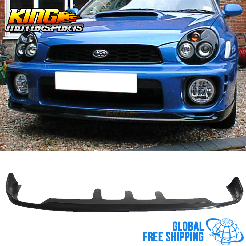 Fit For 2002 2003 Subaru Impreza WRX P-D Style Front Bumper Lip Spoiler PU Global Free Shipping Worldwide image