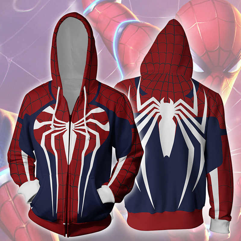 Nieuwe 2019 Superhero Insomniac Spiderman PS4 Game Spider Man 3D Gedrukt Hoodies Mannen Sweatshirts Cosplay Streetwear Mode Hoodie