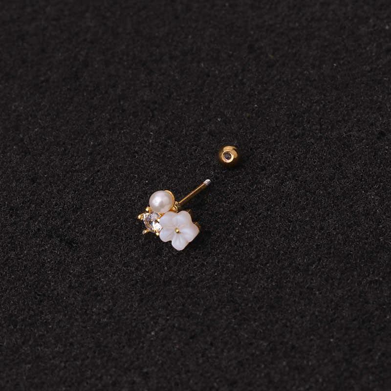 Sellsets 1 PC 20g สแตนเลส Helix Piercing เครื่องประดับ Cubic Zirconia EAR Lobe Tragus Daith กระดูกอ่อนสกรูกลับต่างหู STUD