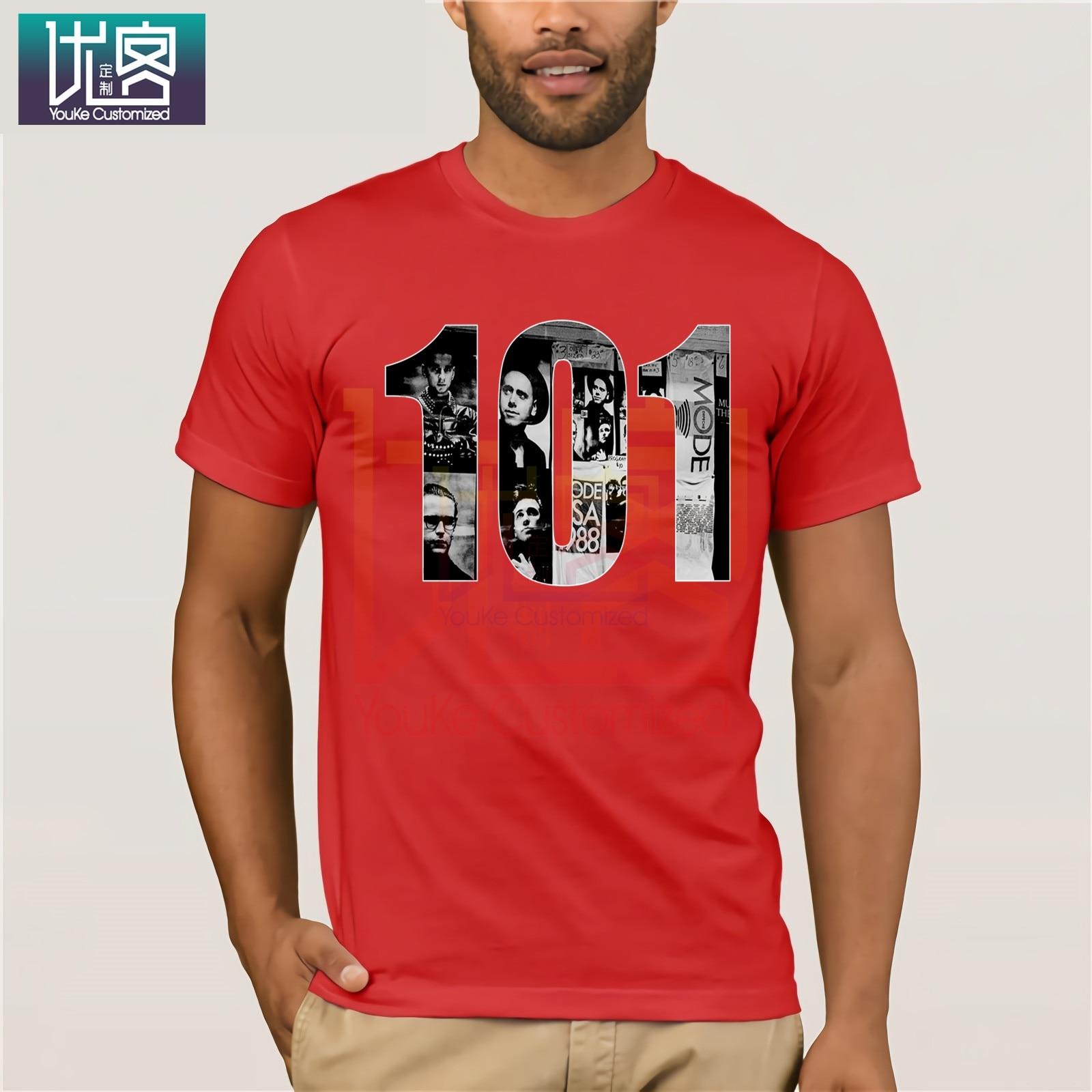 Depeche 101  Mode Music In 2020 T-Shirt Clothes Popular T-Shirt Crewneck 100% Cotton Tees Tops Summer Tees Cotton O Neck T-Shirt