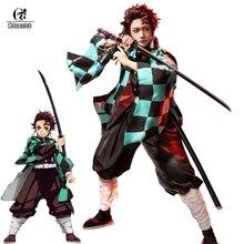 ROLECOS Anime Kostüm Dämon Slayer Cosplay Tanjirou Kamado Cosplay Kostüm Kimetsu keine Yaiba Männer Kimono Kostüm Halloween