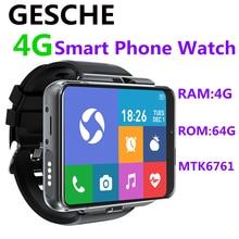 GESCHE 4G 2.88 Inch Screen Smart Watch Android 9.0 4GB 64GB 13MP Camera 480*640 Resolution 2700mah Battery Smart phone watch