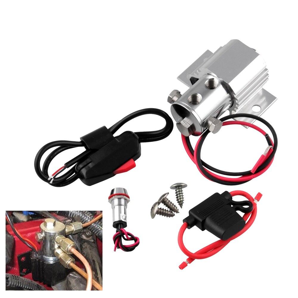 Casier de pneu pour Ford Mustang ligne serrure rouleau contrôle voiture frein ligne de verrouillage Kit 12V 24V + fil serrure Valve + porte fusible + voyant lumineux