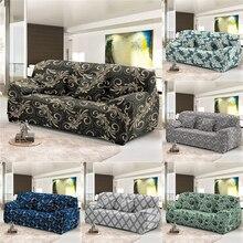 Homesky Vintage flor estiramiento sofá cubierta todo incluido 1/2/3/4 asientos fundas para la sala de estar a prueba de polvo sofá cubierta