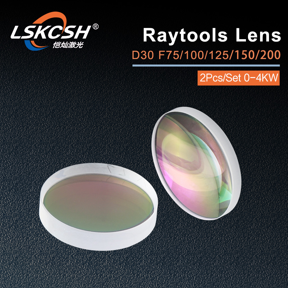 LSKCSH lentille de focalisation laser fibre de haute qualité/lentille collimateur D30 F75/100/125/155/200mm pour tête de découpe laser Raytools BT240