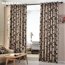 1 PC NAPEARL European Jacquard Curtains Kitchen Door Balcony Fabrics for Window Shade Panel Modern Living Room