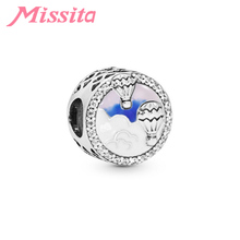 MISSITA Hot Air Balloon Charm fit Pandora Bracelets & Necklaces for Jewelry Making Women Accessories Party Gift