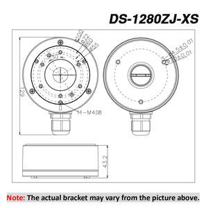Image 2 - Hikvision Original CCTV Bracket DS 1280ZJ XS for DS 2CD2045FWD I DS 2CD2085FWD I IP Camera for Security Cameras Junction Box