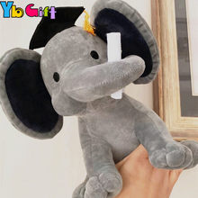 Plush Elephant Toys Doll For Kids Graduation Elephants doctoral Cap Toys For graduate Party Toys For Children Kawaii Gifts Toy