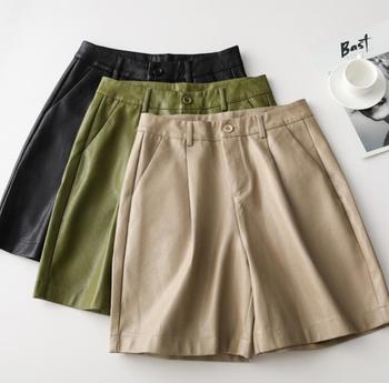 Toppies 2020 New PU Leather Shorts High Waisted Bermuda Faux Loose - discount item  20% OFF Shorts