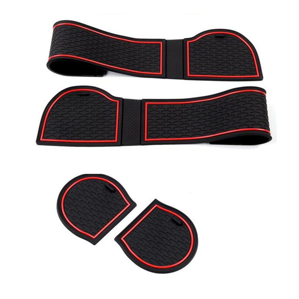 Image 5 - Car Front&Back Door Slot Pad Mat Cup Holders Mats Trim Armrest Storage Box Pad Interior Styling for Subaru Forester 2019 Interior Accessories 17Pcs(set)-in Interior Mouldings from Automobiles & Motorcycles