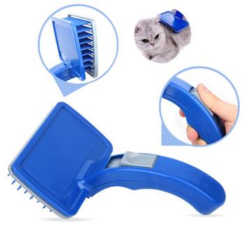 Nowy grzebień dla zwierząt domowych kot pielęgnacja szczotka dla psów futro do usuwania sierści prasa przeprowadzki kot kąpiel produkt dla zwierząt akcesoria dla małych psów tanie i dobre opinie Z tworzywa sztucznego Dog Grooming Animal Care Pet Grooming For Dog Cat Hair Comb Bath Cleaning