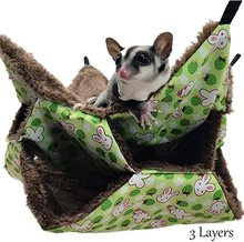 Pet Hammock Double-layer Plush Soft Winter Warm Hanging Nest Sleeping Bed Small Pets Hamster Squirrel Chinchilla House warm bird nest hammock parrot cockatiel hamster chinchilla cage sleeping bed 2 sizes n7