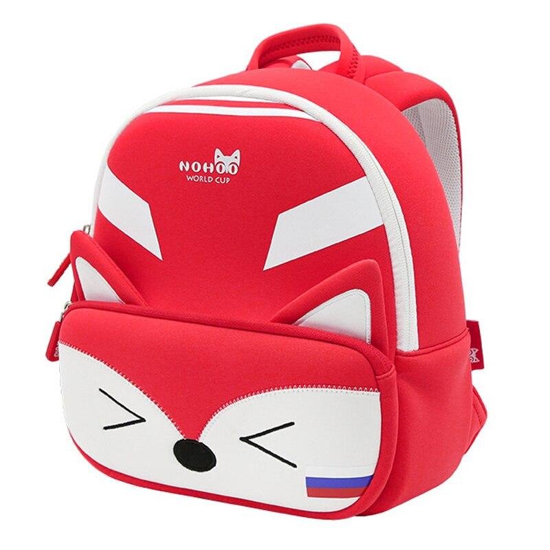 Fashion Red Fox School Bags For Girls Cute Animals Design 3D Cartoon School Backpacks Boys Toddler Children Schoolbag Gift
