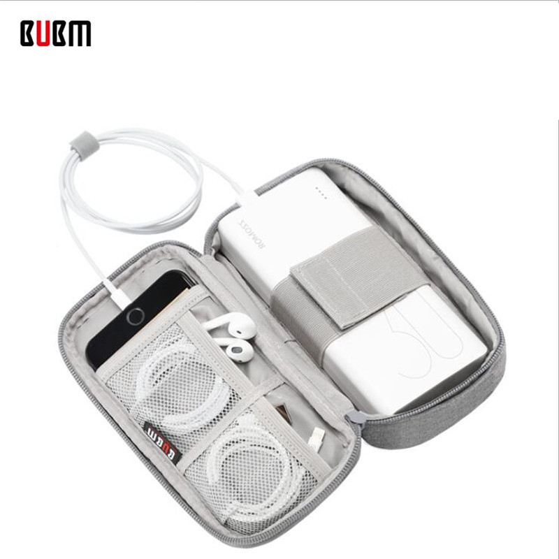 BUBM Brand New Portable Power Source Storage Bag Digital Cable,Data Line Storage Bags Earphone Pouch Outdoor Travel Organizer