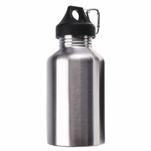 2000ML Stainless Steel Drinking Water Bottle Cycling Camping Hiking Silver