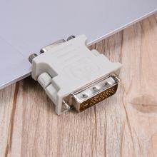 DVI 24+5 Male to VGA Female Converter DVI to VGA Adapter VGA Monitors dvi to vga converter adaptor 90 degree dvi i 24 5 male to vga hd15 female adapter monitors graphic video hd 1080p connector plug