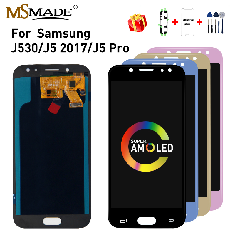 Super AMOLED <font><b>LCD</b></font> for SAMSUNG Galaxy <font><b>J5</b></font> 2017 <font><b>LCD</b></font> Touch Screen J530 J530F For SAMSUNG <font><b>J5</b></font> <font><b>Pro</b></font> 2017 J530 Display Screen Replacement image