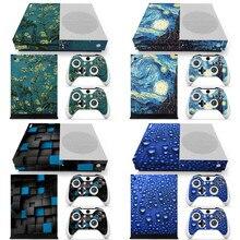 עבור XBOX אחת S Slim קונסולת 2 בקרי מכסה מדבקת שימוש משחק עור מדבקה