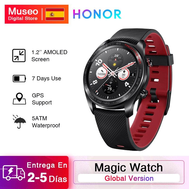 Глобальная версия, часы Honor Magic, умные часы, пульсометр, водонепроницаемый трекер, трекер сна, GPS, рабочий телефонный звонок