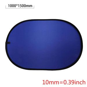 Image 5 - 100*150CM Oval Collapsible Portable Reflector Blue and Green Screen Chromakey Photo Studio Light Reflector For Photography