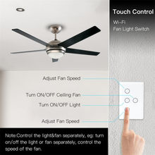 Smart WiFi 2.4GHz Fan Light Switch, In-Wall Ceiling Fan Lamp Switch US Versatile Smart Fan Light High quality and design(China)