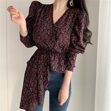 Mazefeng New 2020 Women Spring Summer Blouses Shirts Puff Sl