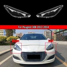 Car Headlamp Lens Transparent Lampshade Bright Lamp Shade Caps For Peugeot 308 2012 2013 2014 Headlight Lens Auto Shell Cover