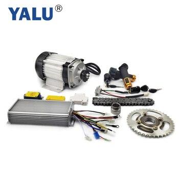 YALU Motor triciclo BLDC Rickshaw Motor Kit de conversión para tres rueda de bicicleta eléctrica 1000W 48V triciclo eléctrico Kit de conversión BM1418ZXF