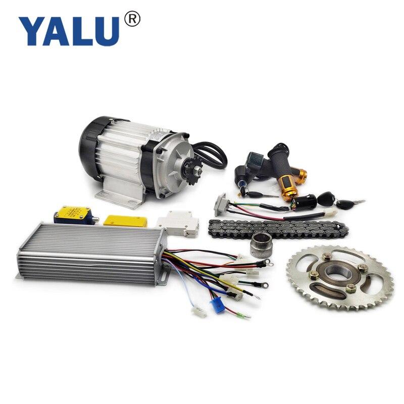 YALU motorower trójkołowy zestaw do konwersji silnika rikszy BLDC na trzy koła EBIKE 1000W 48V elektryczny trójkołowiec zestaw do konwersji BM1418ZXF