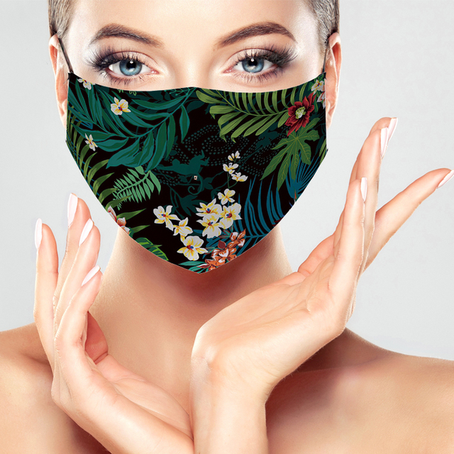 Fashion Printing mouth Mask Reusable Protective PM2.5 Filter Mask anti dust Face Mask Bacteria proof Flu Mask For Women Men 2
