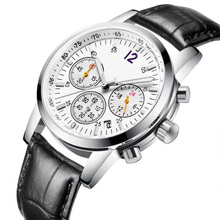 Fashion Men Quartz Watch Clock Wristband Wristwatch Waterproof Quartz Wristwatches AAA Multifunction Leather Strap Watch fashion women watch inbuilt artificial diamond leather strap quartz wristwatch