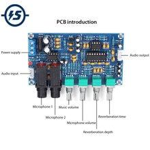XH-M173 wzmacniacz mikrofonowy moduł Karaoke płyta pogłosowa AC 12V podwójna moc zasilania PT2399