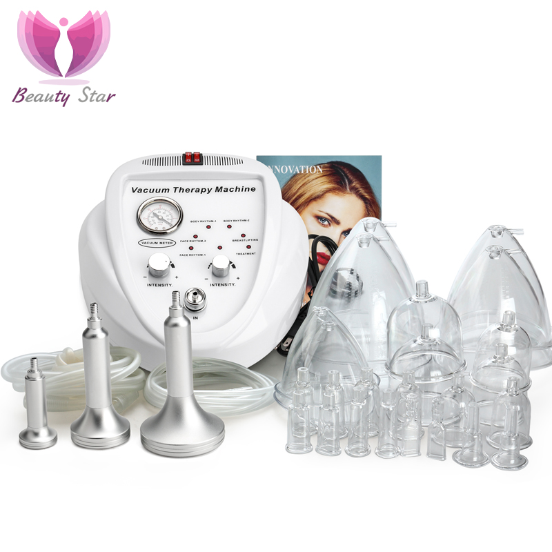 BeautyStar Vacuum Massage Therapy Machine Enlargement Pump Lifting Breast Enhancer Massager Cup Body Slimming Lymphatic Drainage