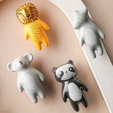 Keramische Kabinet Handles Cartoon Knop Lion King Panda Meubels Handvat Kinderen Kamer Lade Trekt Deurknoppen Keramische Knoppen