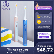 Electric-Toothbrush Teeth-Cleaning Rechargeable 12-Modes Smart Automatic IPX7 SOOCAS