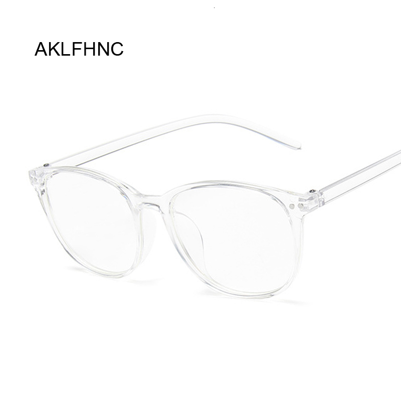 Fashion Clear Glasses Frame For Women Men Vintage Round Eye Glasses Female Male Plastic Transparent Optical Glasses Frames