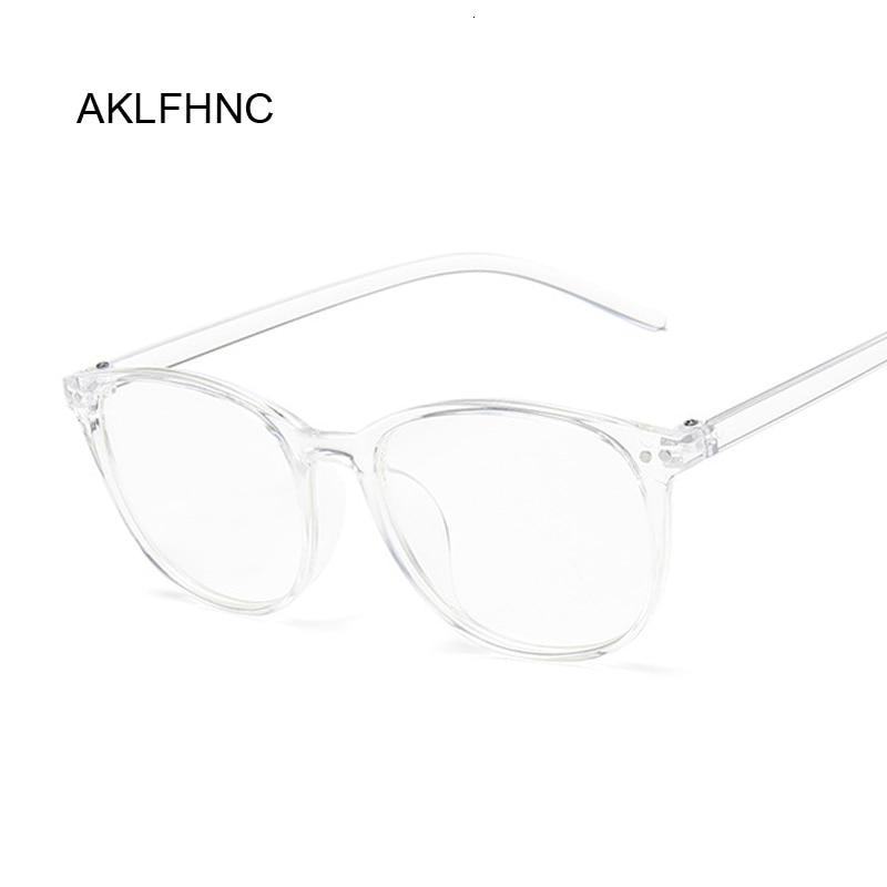 Fashion Clear Glasses Frame For Women Men Vintage Round Eye Glasses Female Male Plastic Transparent Optical Glasses Frames