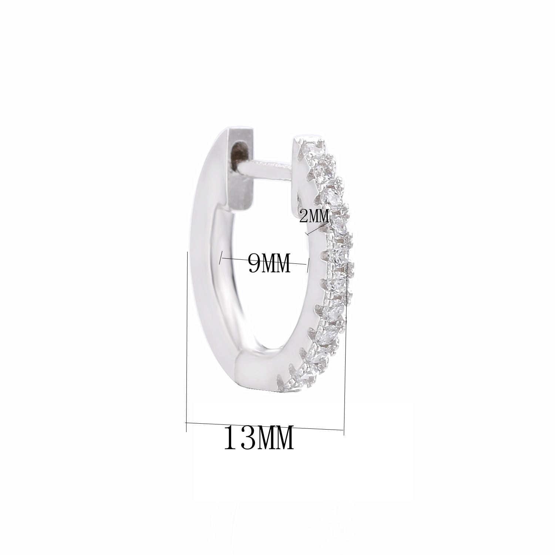 925 пробы серебряные серьги-кольца, маленькие серьги Huggies, круглые женские серьги с кристаллами CZ, ювелирные изделия