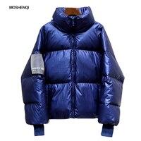 MOSHENQI Winter Jacket Women Solid Stand Collar Parka Coat Warm Plus Size Overcoat 2019 Female Parkas Woman Puffer Jacket