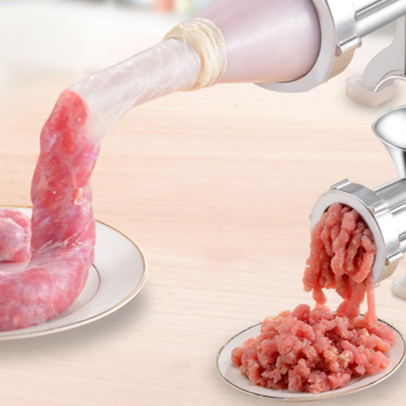 Sausage Stuffer Maker Press Filler Machine Grinder Meat Nozzle Funnel Tool New