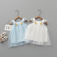New Girls Summer Dress For Party Wedding Costume Children Christmas Lace Cotton Princess Clothing Kids