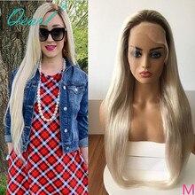 Platin sarışın düz dantel ön peruk Ombre 4 #/60 # 13x 4/13x6 İnsan saçı peruk için kadın 150% 180% brezilyalı Remy saç Qearl