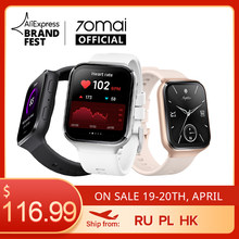 70mai Saphir Smartwatch Bluetooth GPS 70mai Uhr Sport Heart Rate Monitor 5ATM Wasser Widerstand Anruf Erinnerung 70mai APP