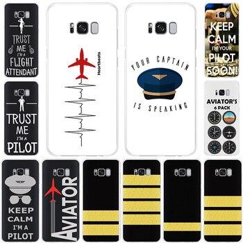 Funda de teléfono de silicona blanda para avión, helicóptero, avión, piloto, fly, Samsung Galaxy S20, Note10 Pro, S20Ultra, S10, S9, note 9, S8, S7|Fundas antigolpes para teléfono|   -