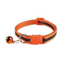 Регулируемое ожерелье ошейник безопасности Пряжка нейлоновые ошейники для собак светоотражающие ошейники для кошек с колокольчиками для маленьких товары для животных, кошек