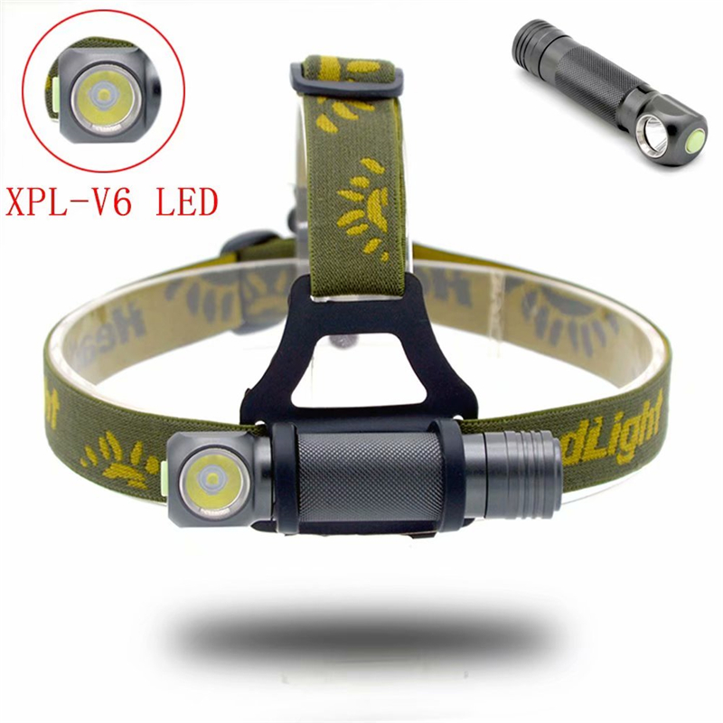 LED Headlight XPL-V6 Bead Ultra Bright Headlamp Head Lamp Flashlight 18650 Torch Camping Hiking Night Fishing